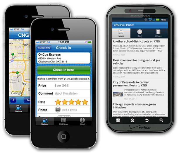 MobileApps A natural gas app for your phone from CNGnow