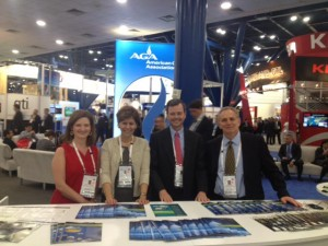 AGA staff welcome delegates to LNG 17.