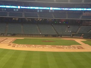 "The opening reception was held at Minute Maid Park, home to the Houston Astros. ""LNG17 & Shell Welcome You!"""