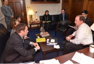 Representatives from Entergy meet with Rep. Bill Flores (TX-17) to discuss LIHEAP funding. Photo Credit: Entergy