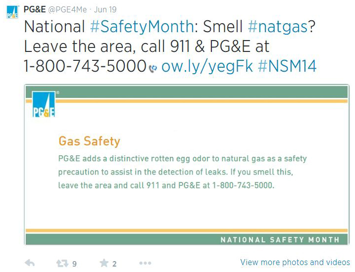 PGE National Safety Month: AGA Reminds Public About Natural Gas Safety Methods