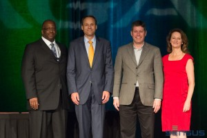(From L-R: Ronald Bradley, VP, Gas Operations, PECO Energy and AGA Operations Conference Chairman; Michael Haefner, Executive VP, Atmos Energy; Jeff Knights, VP, Technical Services - Mid-Texas Division, Atmos Energy; Christina Sames, VP, Operations & Engineering, AGA)