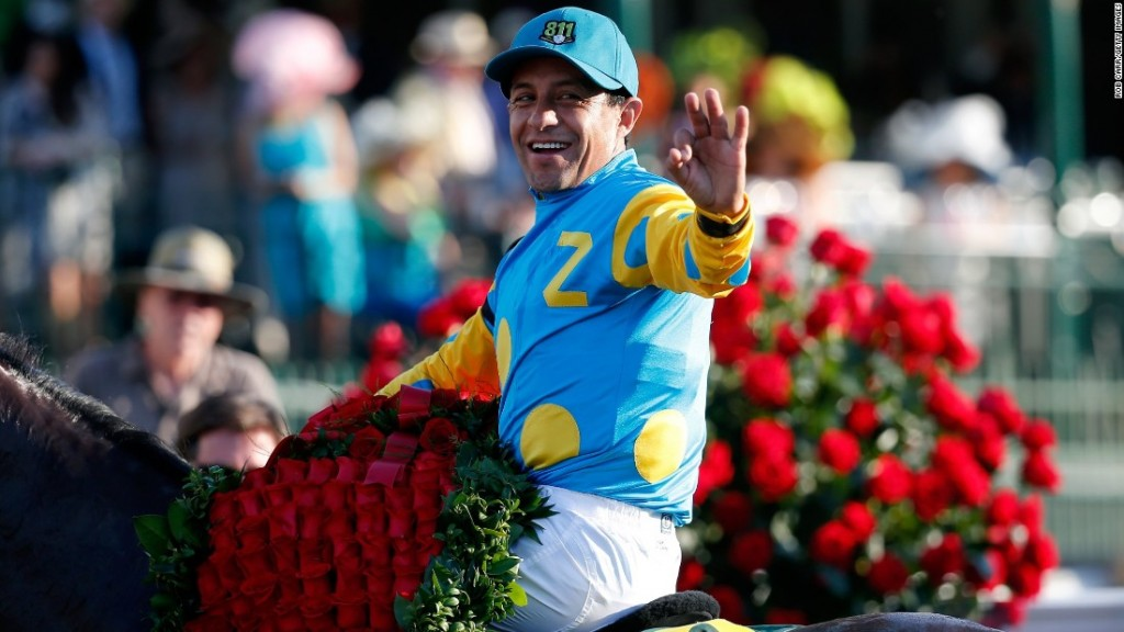 Victor Espinoza winners circle