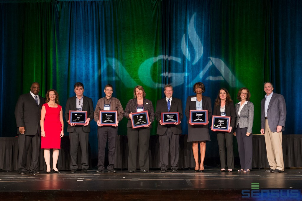 Recipients of the 2015 AGA Safety Achievement Award