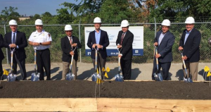 Columbia Gas of Ohio: Ground is officially broken with City of Gahanna with Pat Tiberi and Mayor Kneeland on 811 Day.